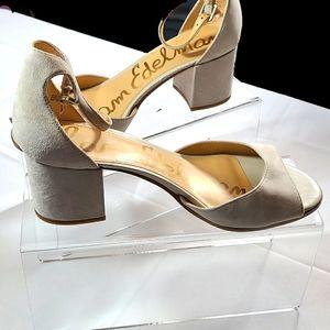 Sam Edelman womens suede open toe heel sz 10.5